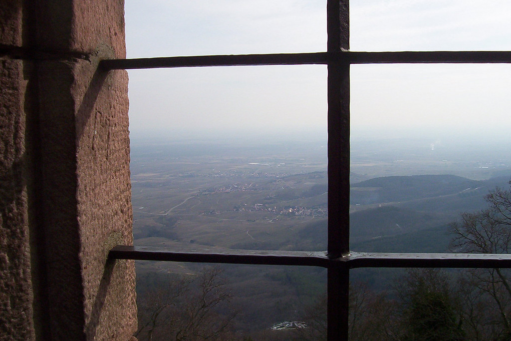 The view southeast, the Rhine is in the distance. The castle is about 1500 meters off the valley floor. It only fell once, to the Swedes.