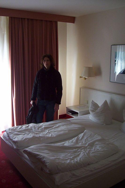 First European hotel room, Schweitzegen just outside of Heidelberg.