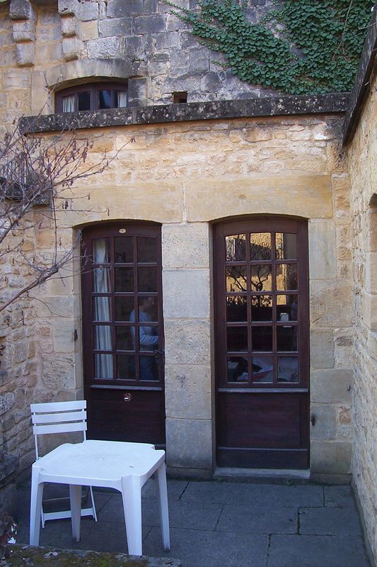 Entrance to our hotel room in Sarlat, France.