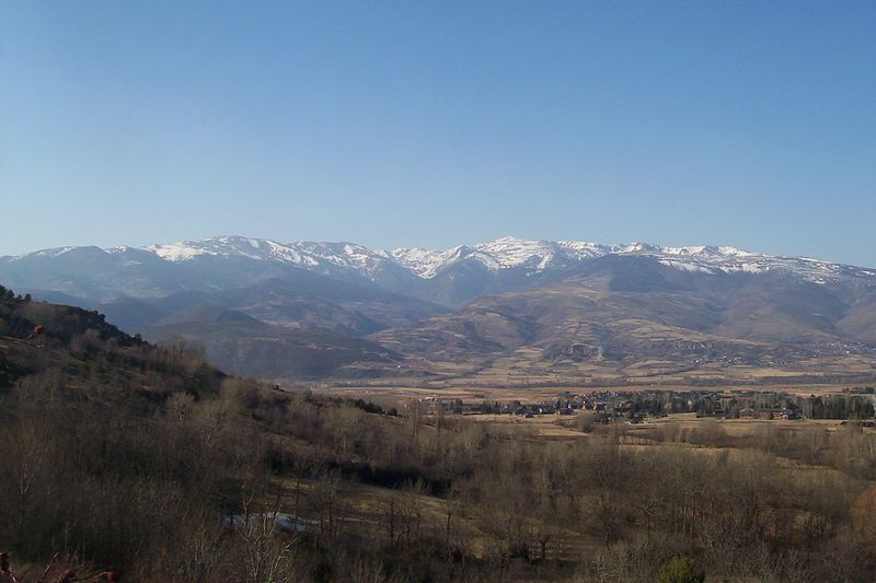 Just south of the Pyrenees, looking back toward France.