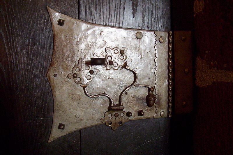 Door hardware in Kroenenburg castle. No two pieces were alike.
