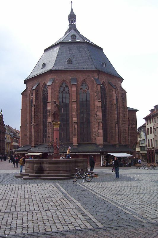 One of three really big churches in old town Heidelberg.