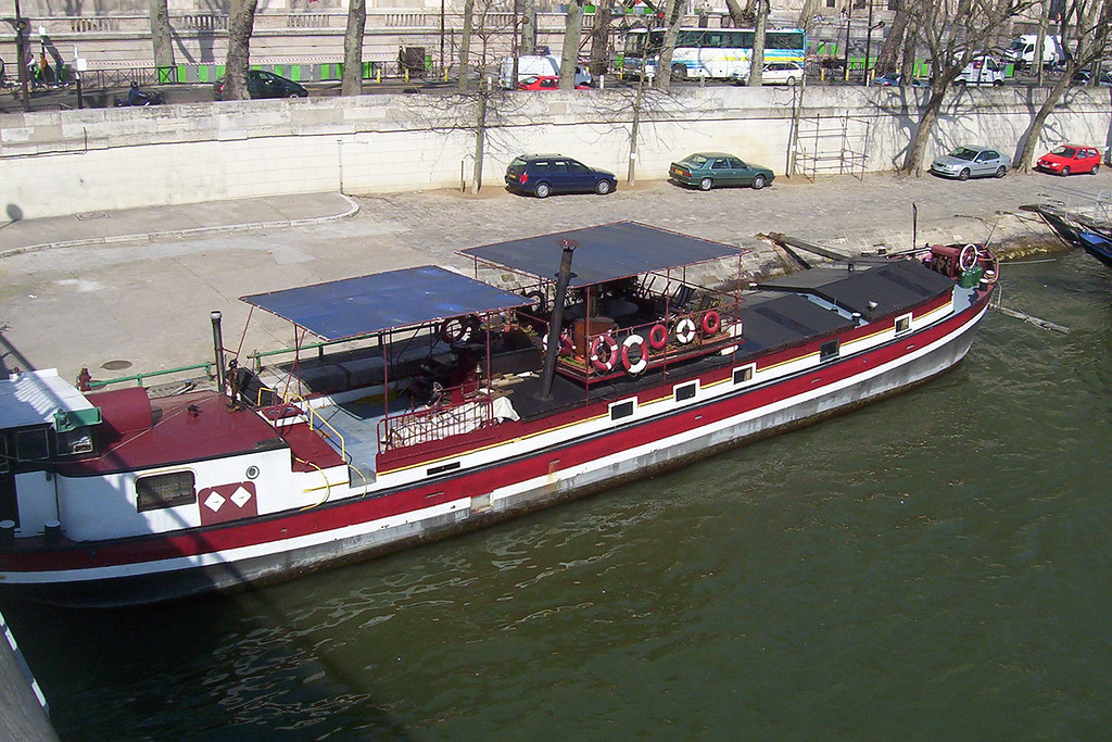Houseboat on the Seine.