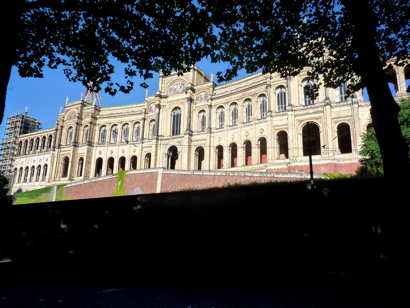 The impressive Maximilianeum was completed in 1874 at the request of King Maximilian II of Bavaria.