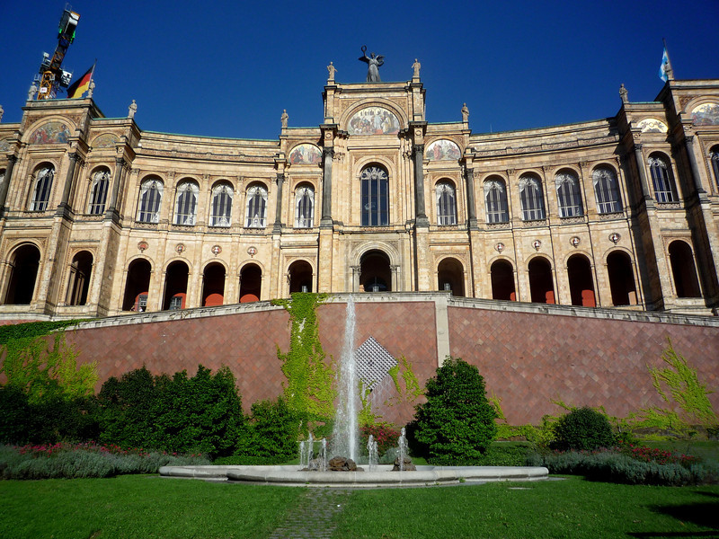 The building was originally built as the home of a gifted students foundation but it has housed the Bavarian Parliament since 1949.