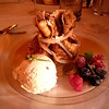 For dessert, we had an apple Calvados crepe with Lavender ice cream and fresh berries.
