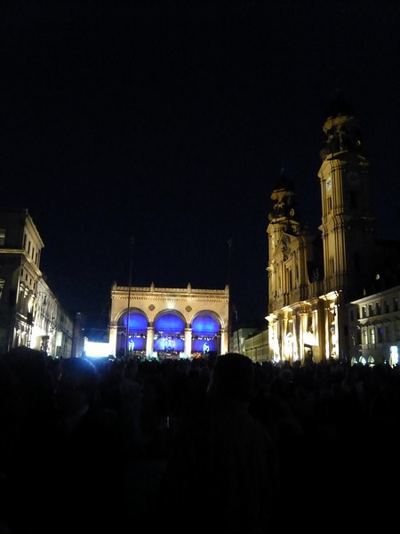 We walked to the back area for an overall view of the square. I suppose our seats were better than we thought!