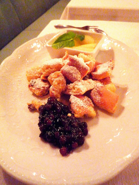Thomas opted for the Kaiserschmarren.
