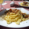 Fettuccine with local chanterelle mushrooms - simple goodness at its best.