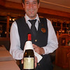 This was Stefano, our great waiter. We enjoyed a reserve bottle of red wine with dinner.