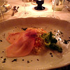 Next was barely risotto refined with with Mascarpone cheese and served with slices of smoked swordfish.