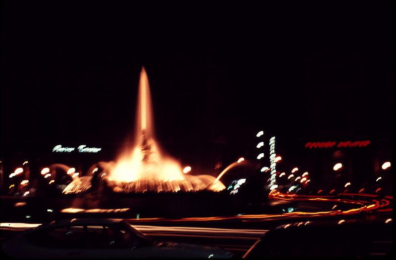 Roman Roundabout at night