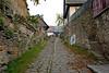 Cobblestone Street in Opocno, Czech Republic