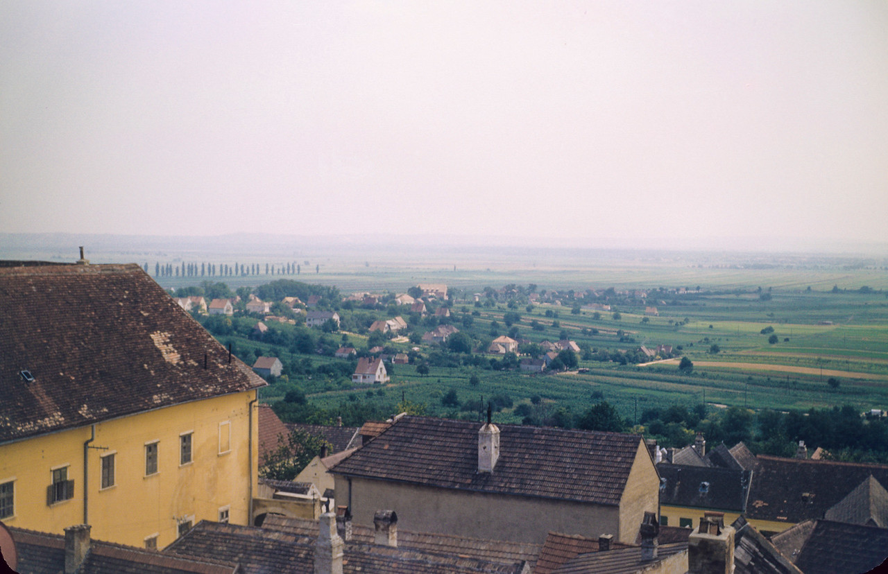 Looking from Eisenstadt, Austria,  across to the Hungarian plain