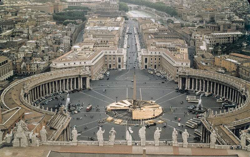 Looking down from St. Peters' Dome, Vatican City