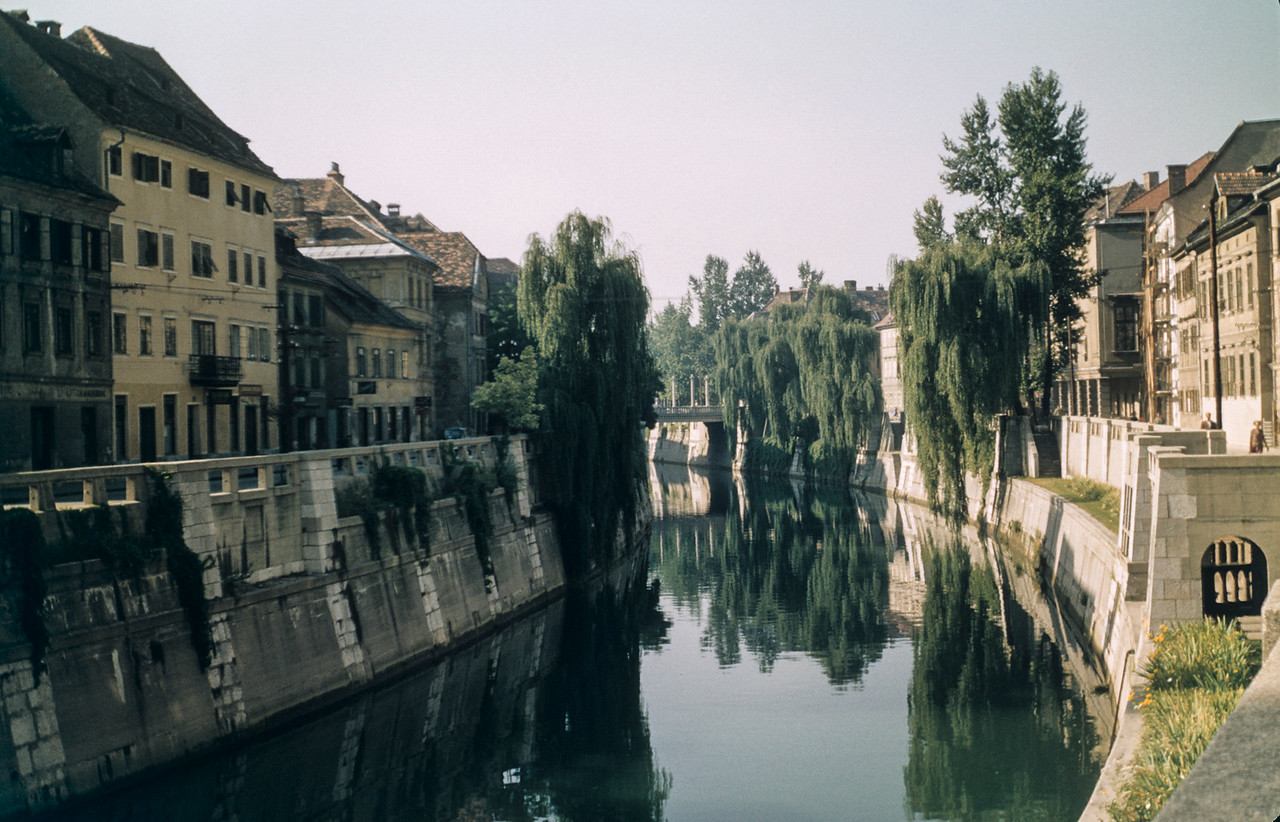 Canal, Ljubijana, Yugoslavia (before and after, Slovenia)