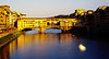 Ponte Vecchio in the late afternoon sun, Florence, Italy, May 2000.