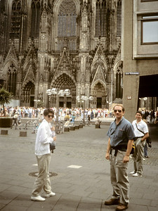 Plaza in front of the Kölner Dom (Cologne cathedral). Probably the largest and finest Gothic edifice in Europe, although taking six centuries to complete. Thankfully spared in WWII despite almost total destruction of the city around it.