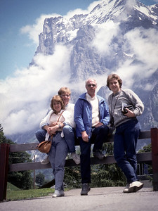 All four travelers in Grindelwald, Berner Oberland.