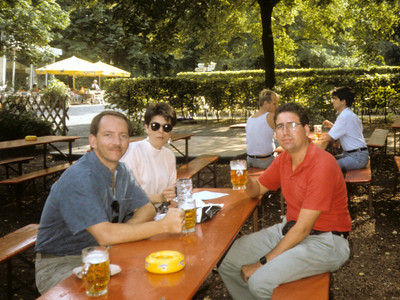 Next trip: Berlin, afternoon at the Tiergarten (zoo); Dave, Dee, Frank