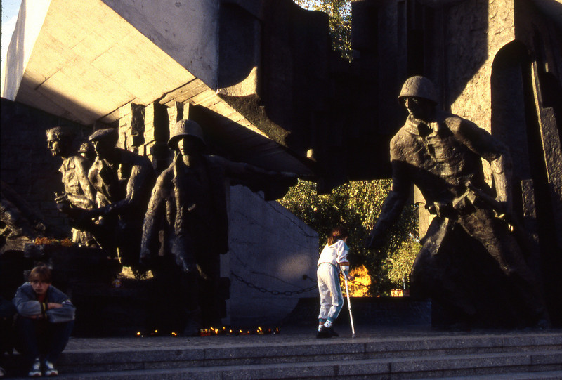 Monument to  Warsaw uprising in WWII