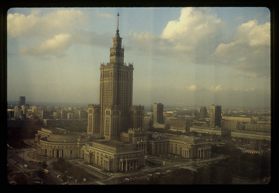 Warsaw City Hall, from our Hotel room.
