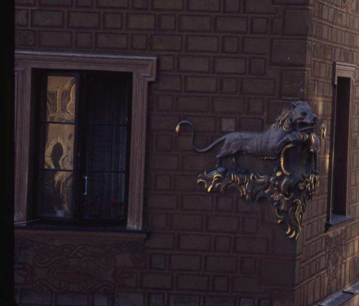Decoration on Warsaw building.