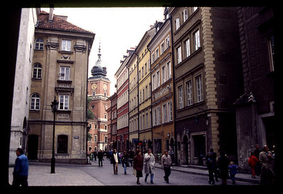 Restored Warsaw city streets