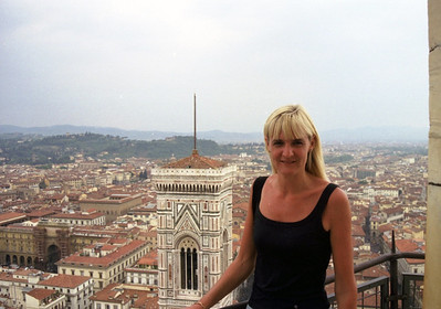Jean at the top of the Duomo in Firenze