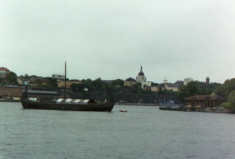 Viking ship in Stockholm.