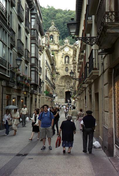 Old town San Sebastian.