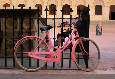 Pink Bike in Campo - Siena