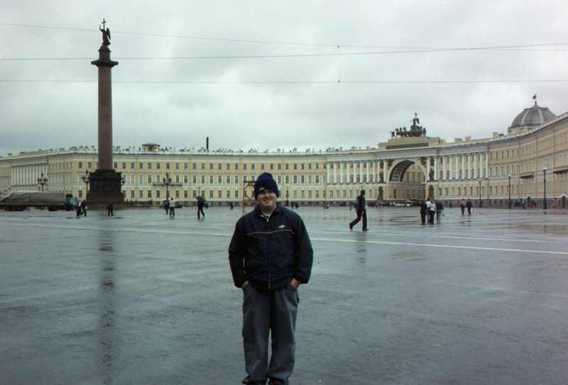 The main square (name?) and armory in St. Petersburg.