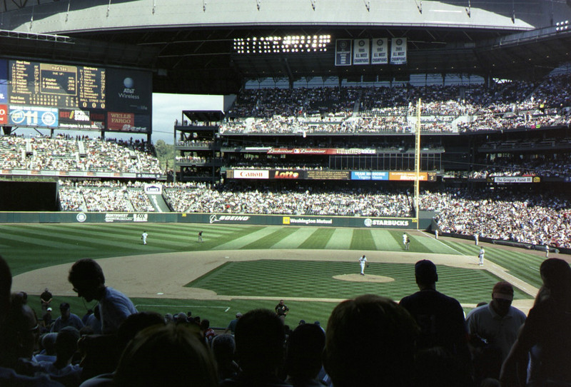 At the Mariners game.