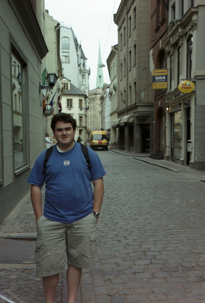Typical street in old town Riga.