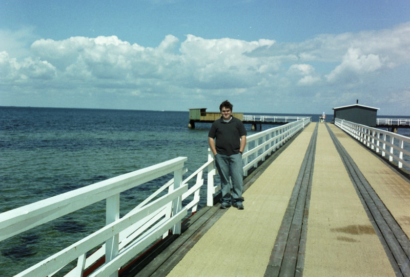 A pier outside Art and Nancy's house in Malmo (Weston's aunt and uncle).