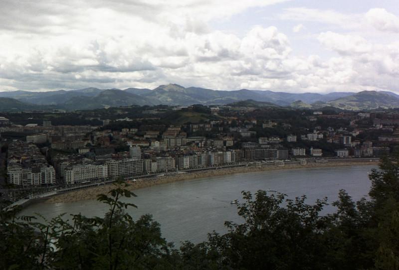 The beach in San Sebastian.