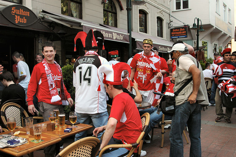 Wild and Crazy Liverpool soccer fans