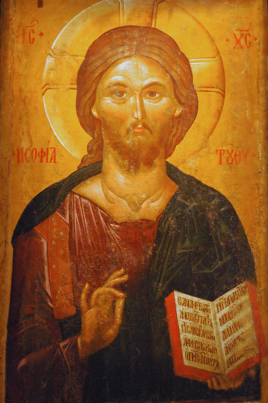 Christ as the Wisdom of God, from the 2nd half of the 14th century.  This is in the Byzantine Museum in Thessaloniki, and came from the Church of Agia Sophia in Thessaloniki.