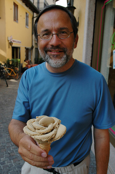 My last true Italian gelato  :-(   I sure was surprised when it came shaped like a flower!