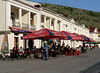 Outdoor cafes on the  Balaklava waterfront - it was still a bit chilly to sit outside