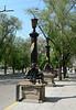 Decorated street lamp outside the Black Sea Fleet Museum, Sevastopol