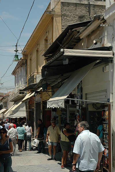 Cruisin' shops in the Plaka.