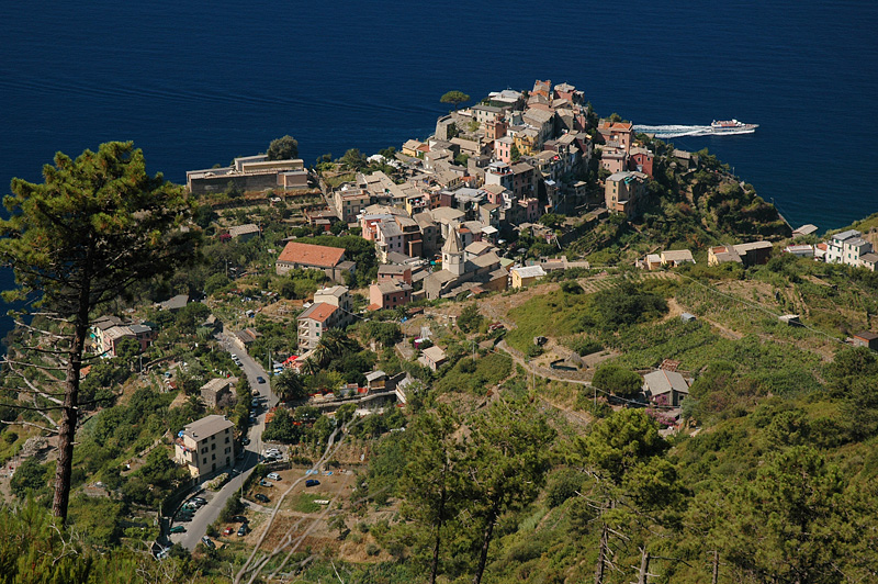 Looking down on Corniglia as we come down the trail.