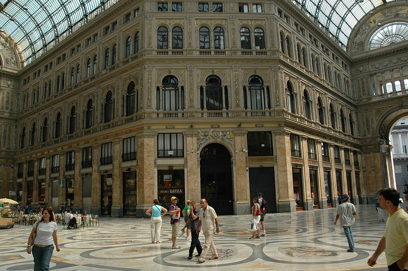 The Galleria Umberto - a hundred year old shopping mall.
