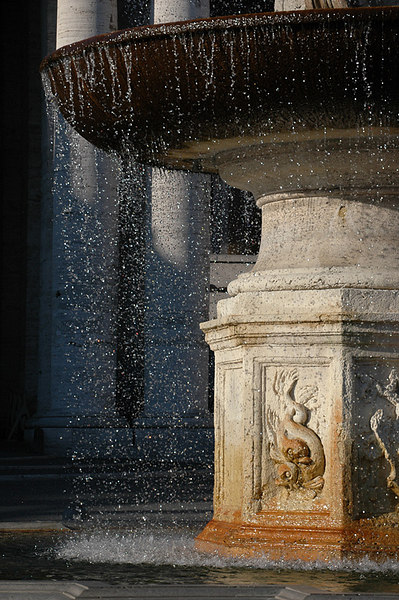 Fountain in Piazza San Pietro