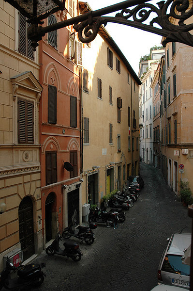 Hotel Smeraldo had small, comfortable room just off the Campo de'Fiori.  A great spot in the heart of Rome.  This was the view out our room window.