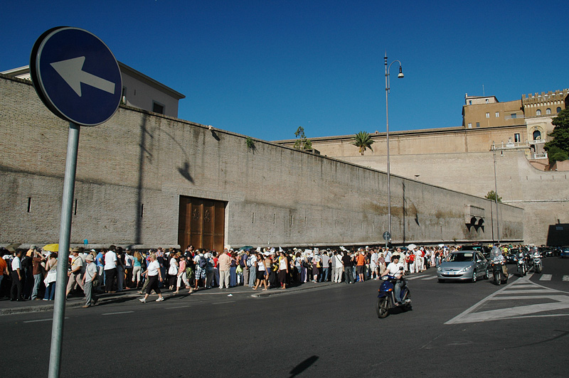 Yes, the Vatican Museum line can be 2 hours long!