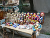 Outdoor souvenir stall - no, this is Chisinau, Moldova, not Russia