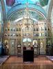 Inside church in Saharna monastery complex